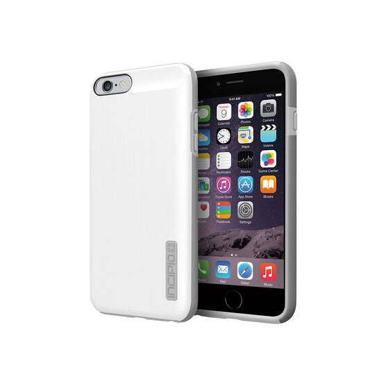 Incipio DualPro Shine Case for iPhone 6 Plus - White/Grey - IPH-1196-WHTGRY