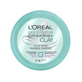 L'Oreal Extraordinary Clay Mask Pre-Shampoo Treatment - Oily Roots - 150ml
