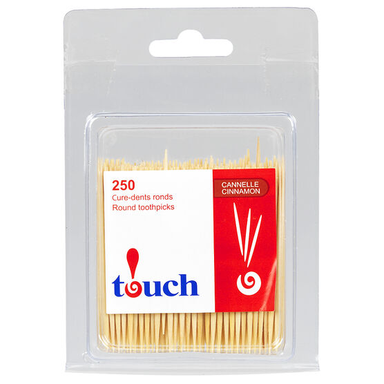 Touch Round Toothpicks - Cinnamon - 250's