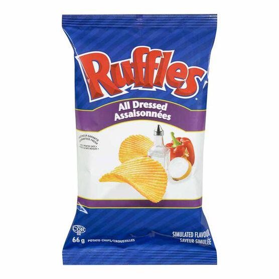 Ruffles Potato Chips - All Dressed - 66g