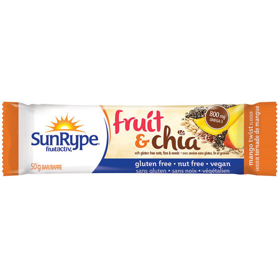 SunRype Fruit & Chia Bar - Mango Twist - 50g