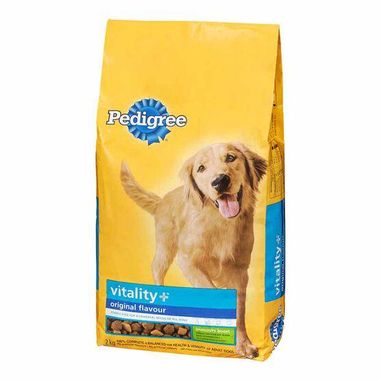 Pedigree Vitality+ Dry Dog Food - Original - 2kg