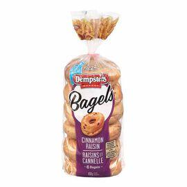 Dempster's Cinnamon Raisin Bagels - 6's- 450g