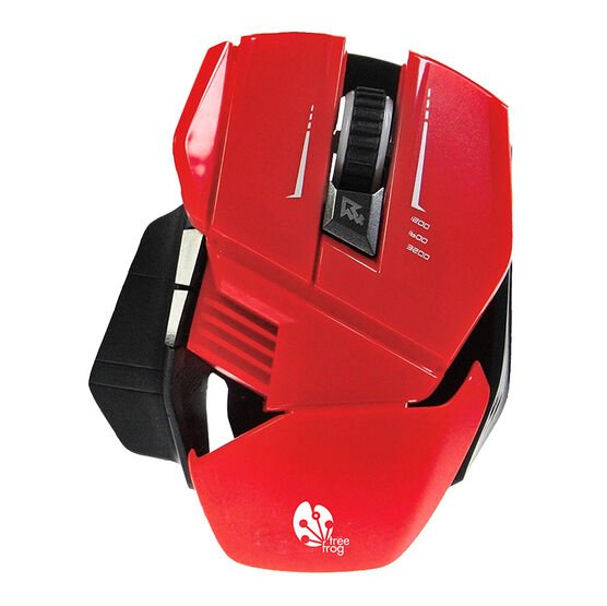 Tree Frog 7 Button Gaming Mouse - Red - GM20RD