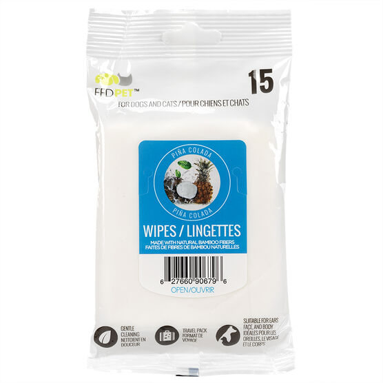 FouFou Pet Wipes - Pina Colada - 15's