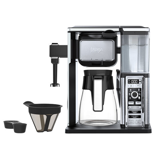 Ninja Coffee Bar with Glass Carafe System - Black and Silver - CF091C
