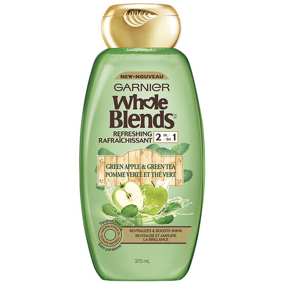 Garnier Whole Blends Refreshing 2 in 1 - Green Apple & Green Tea - 370ml