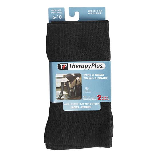 Therapy Plus Ladies Trouser Socks - Chevron Pattern -  2 Pair