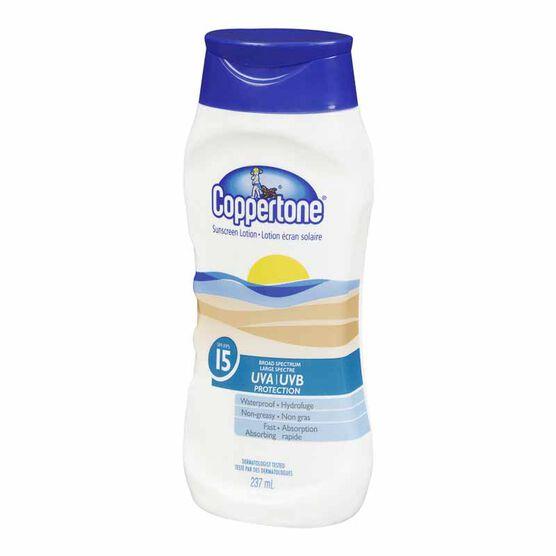 Coppertone Sunscreen Lotion - SPF 15 - 237ml