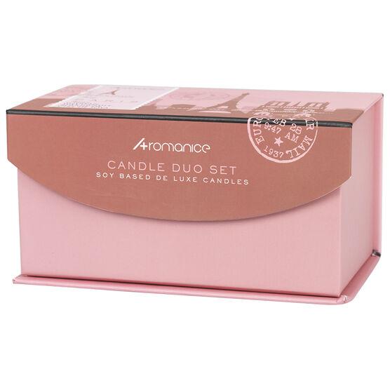 Aromanice Candle Set Paris - Peony - 2 piece