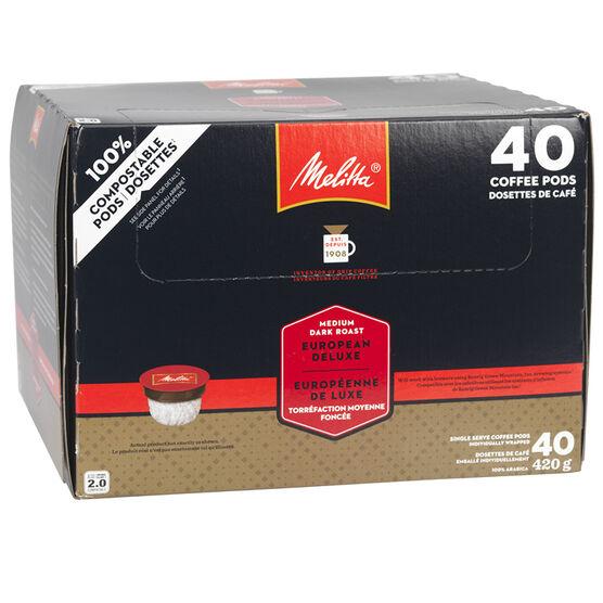 Melitta Coffee - Deluxe European Roast - 40 Servings