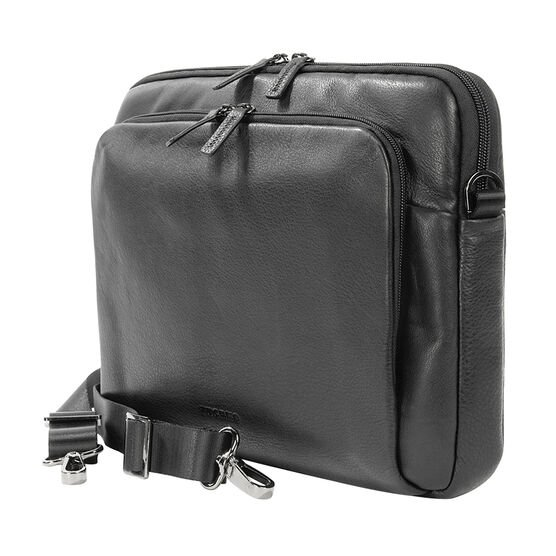 Tucano One Premium Sleeve for 11/12inch Notebook - Black Leather - BF0P11