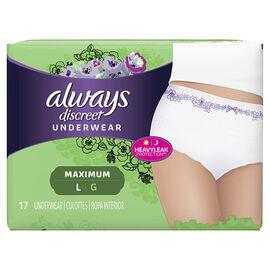 Always Discreet Underwear Maximum - Large - 17's