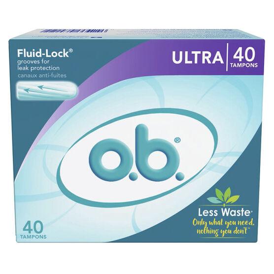 O.B. Ultra Tampons - 40's