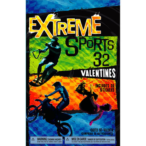 Plus Mark Extreme Sports Valentine's Day Cards - 32 pack
