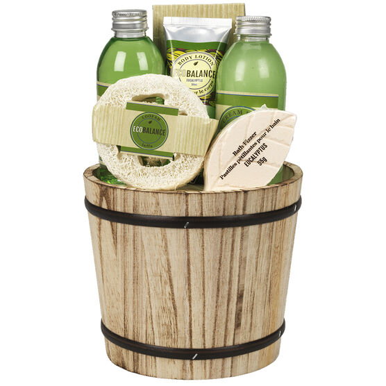 ECOBALANCE Basket Bath Gift Set Eucalyptus - 6 piece