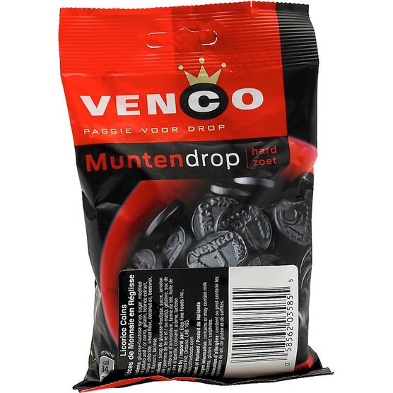 Venco Munten Drop - Licorice Coins - 168g