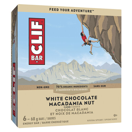 Clif Crunch Bar - White Chocolate Macadamia - 5 x 42g