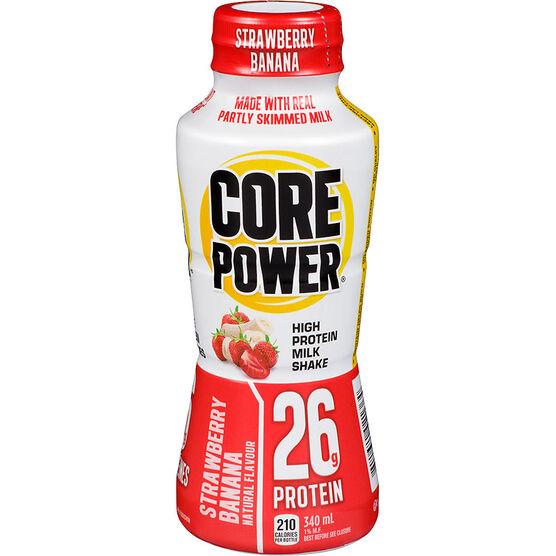 Core Power High Protein Milk Shake - Strawberry Banana - 340ml