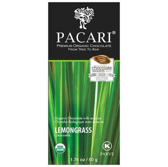 Pacari Organic Chocolate Bar - Lemongrass - 50g