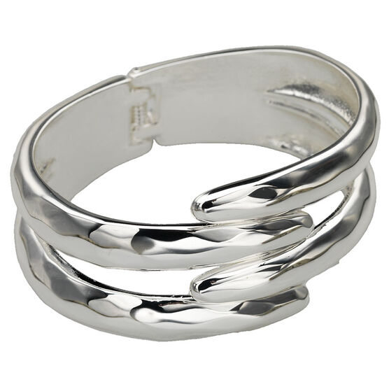 Haskell Silver Bangle Bracelet