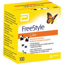 FreeStyle Lite Test Strips - 100 test strips