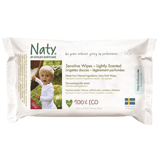 Nature Babycare Sensitive Wipes - Lightly Scented - 56's