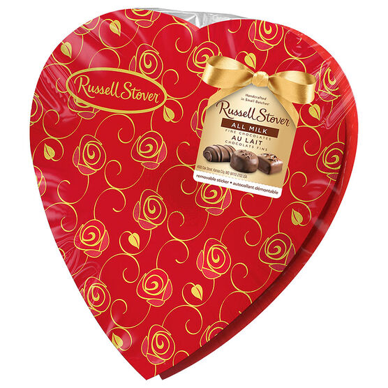 Russell Stover All Milk Chocolate Heart - 198g