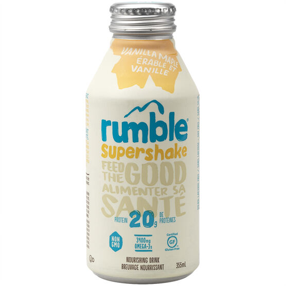 Rumble Super Shake - Vanilla Maple - 355ml