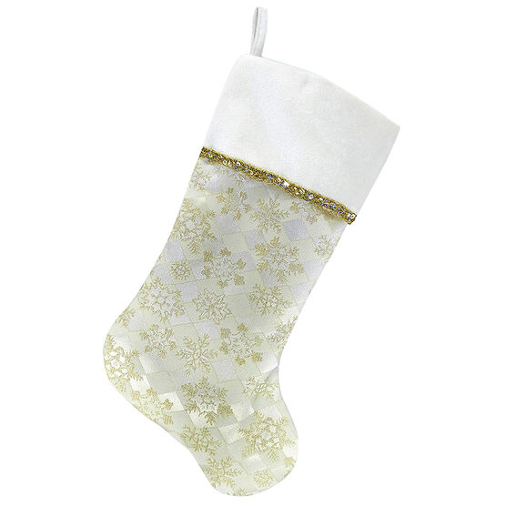 Christmas Forever Stocking - Snowflake - 20.5in