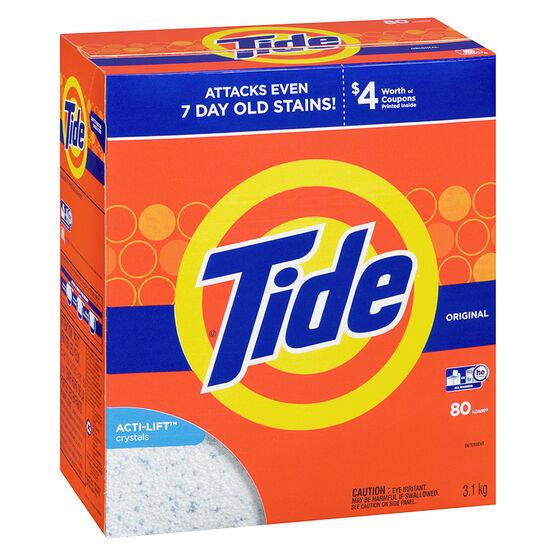 Tide Ultra HE Powder Laundry Detergent - Original - 3.1kg / 80 Use