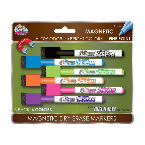The Board Dude Magnetic Dry Erase Markers - 6 pack