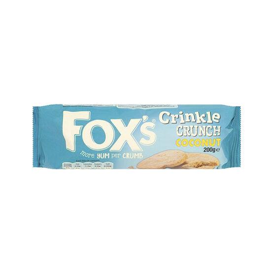 Fox's Crinkle Crunch Biscuit - Coconut - 200g