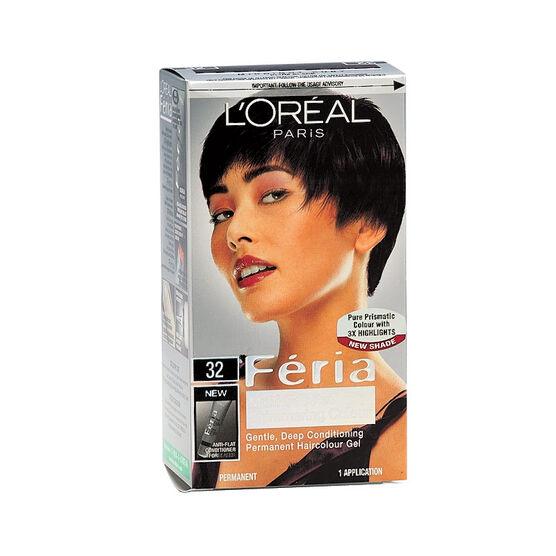 L'Oreal Feria Hair Colour - 32 Plum Black