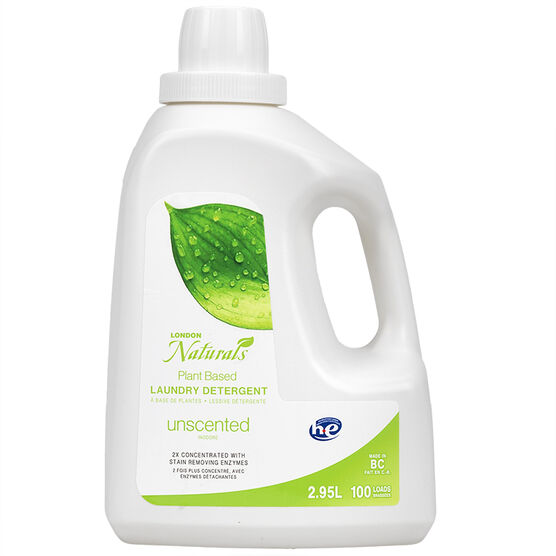 London Naturals 2X HE Laundry Detergent - Unscented - 2.95L