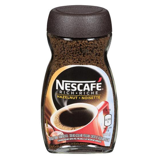 Nescafe Rich Instant Coffee - Hazelnut - 100g
