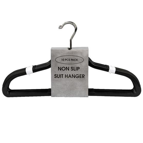 London Drugs Non-Slip Hanger - Black - 10's