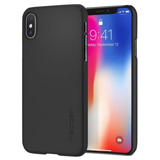 Spigen Thin Fit Case for iPhone X - Matte Black - SGP057CS22108