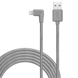 Logiix Piston Connect XL90 Lightning Cable - Graphite - LGX12614