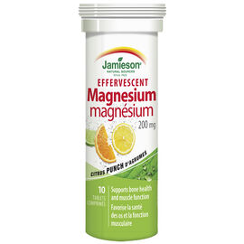 Jamieson Effervescent Magnesium 200 mg - Citrus Punch - 10's