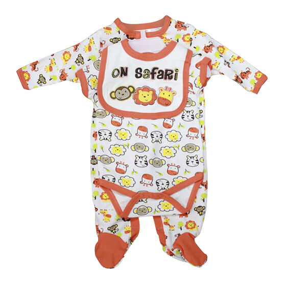 Baby Mode On Safari 3-Piece Set - 3579 - Assorted