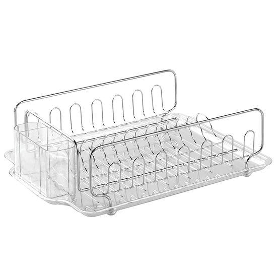 InterDesign Forma Kitchen Dish Drainer Rack - Stainless Steel