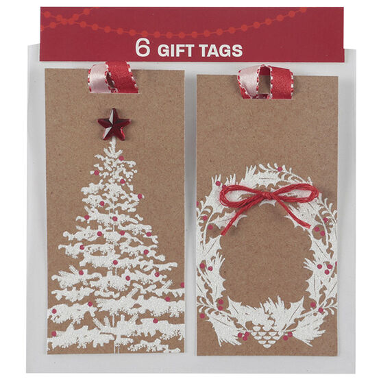 Christmas Large Luggage Gift Tags - 6s - 934109A - Assorted