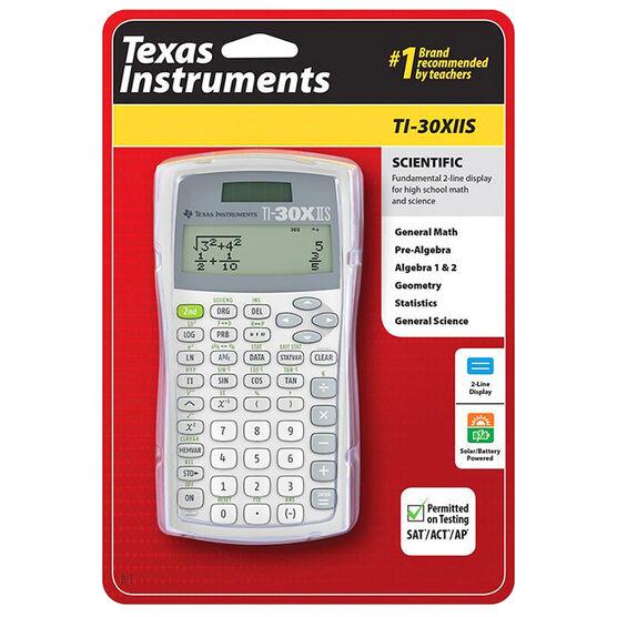 T.I. 2 Line Scientific Calculator - White - TI30XIISWHITE