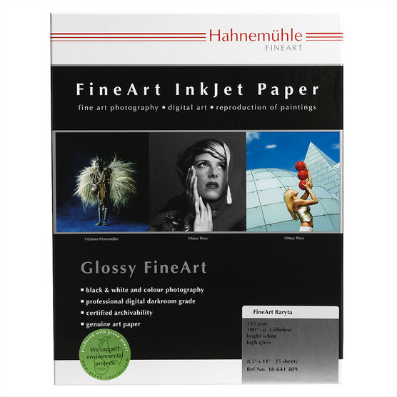 Hahnemuhle FineArt Baryta 325gsm - 8.5 x 11inch - 25 sheets