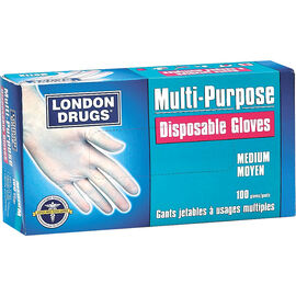 London Drugs Disposable Vinyl Gloves - Medium - 100's