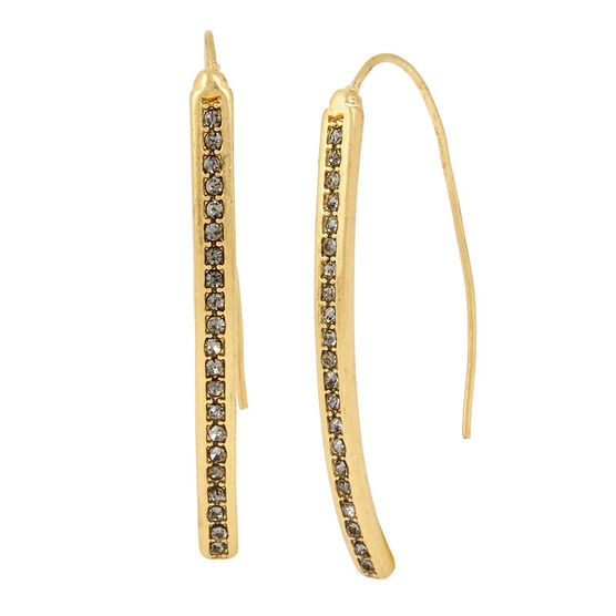 Kenneth Cole Diamond Stick Earrings - Black/Gold