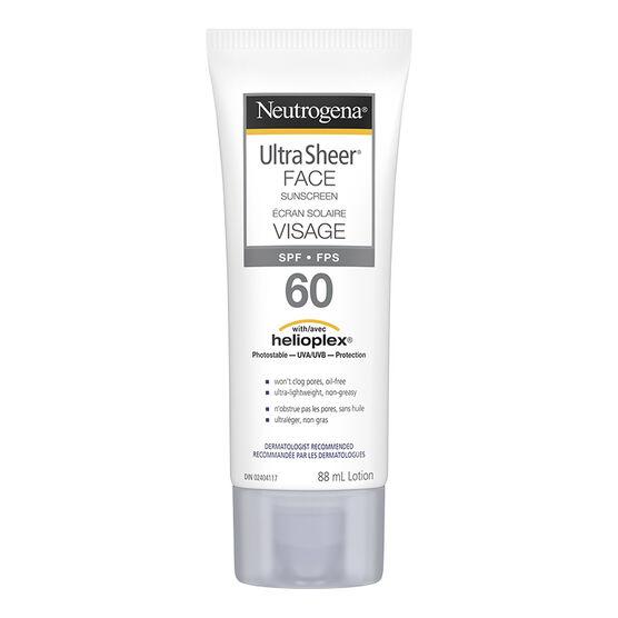 Neutrogena Ultra Sheer Face Sunscreen - SPF60 - 88ml