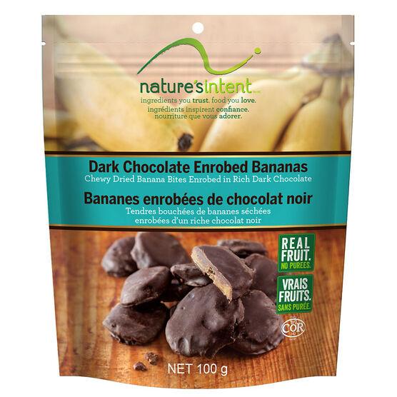 Nature's Intent  Dark Chocolate Bananas - 100g