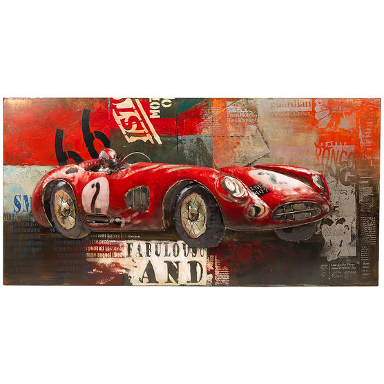 London Drugs Metal Print - Race Car - 120 X 60 X 7.5cm